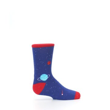 Image of Solar System Outer Space Planets Kid's Dress Socks (side-1-24)