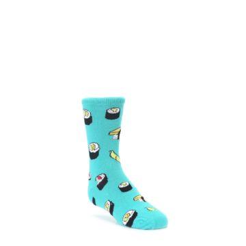 Teal Sushi Kids Dress Socks Socksmith