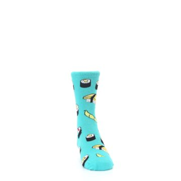 Image of Teal Sushi Kid's Dress Socks (side-1-front-03)