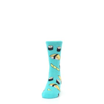 Image of Teal Sushi Kid's Dress Socks (front-05)