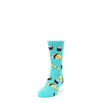 Image of Teal Sushi Kid's Dress Socks (side-2-front-06)