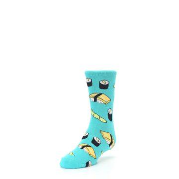 Image of Teal Sushi Kid's Dress Socks (side-2-front-07)