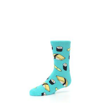 Image of Teal Sushi Kid's Dress Socks (side-2-09)