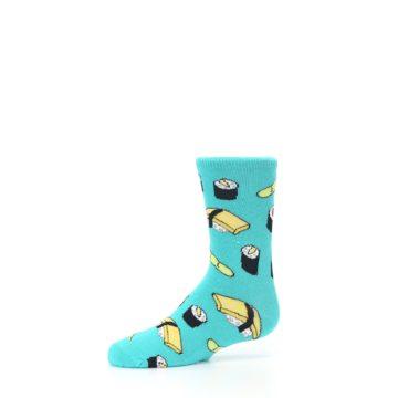 Image of Teal Sushi Kid's Dress Socks (side-2-10)