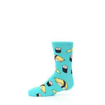 Image of Teal Sushi Kid's Dress Socks (side-2-11)