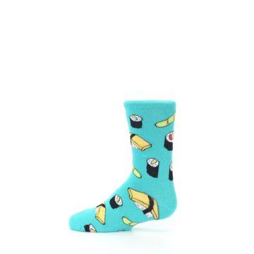 Image of Teal Sushi Kid's Dress Socks (side-2-12)