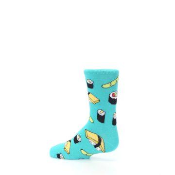 Image of Teal Sushi Kid's Dress Socks (side-2-13)