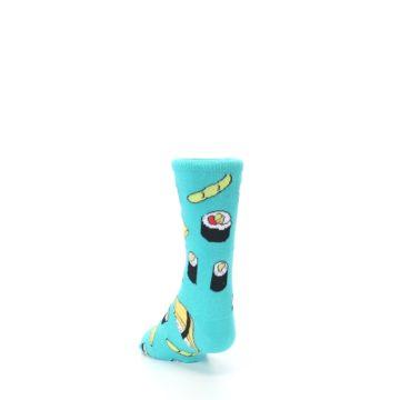 Image of Teal Sushi Kid's Dress Socks (side-2-back-16)