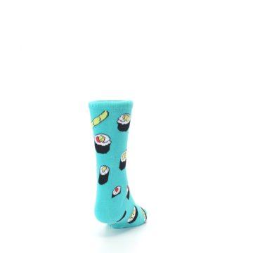 Image of Teal Sushi Kid's Dress Socks (back-19)