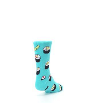 Image of Teal Sushi Kid's Dress Socks (side-1-back-20)