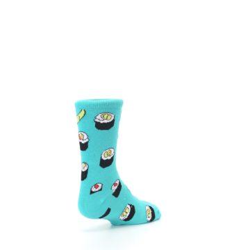 Image of Teal Sushi Kid's Dress Socks (side-1-back-21)