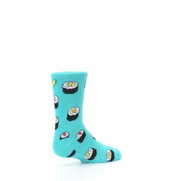 Image of Teal Sushi Kid's Dress Socks (side-1-back-22)