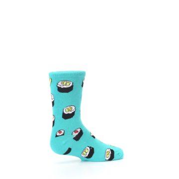 Image of Teal Sushi Kid's Dress Socks (side-1-23)