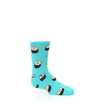 Image of Teal Sushi Kid's Dress Socks (side-1-25)