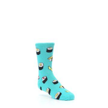 Image of Teal Sushi Kid's Dress Socks (side-1-27)