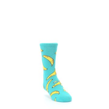 Image of Teal Bananas Kid's Dress Socks (side-1-front-02)