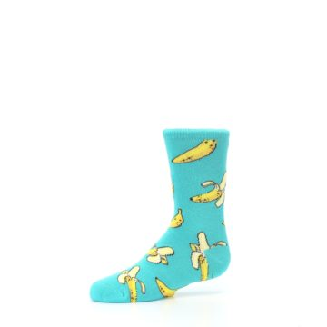 Image of Teal Bananas Kid's Dress Socks (side-2-10)