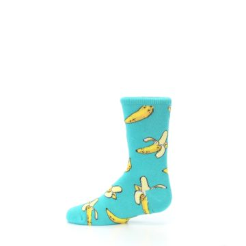 Image of Teal Bananas Kid's Dress Socks (side-2-12)