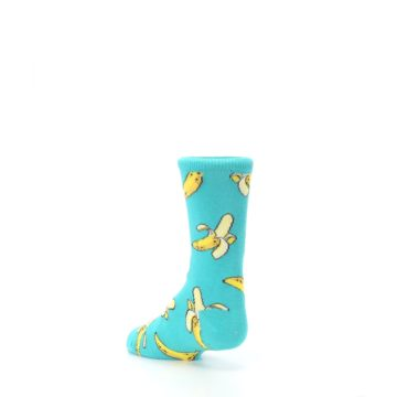Image of Teal Bananas Kid's Dress Socks (side-2-back-15)