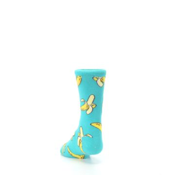 Image of Teal Bananas Kid's Dress Socks (side-2-back-16)