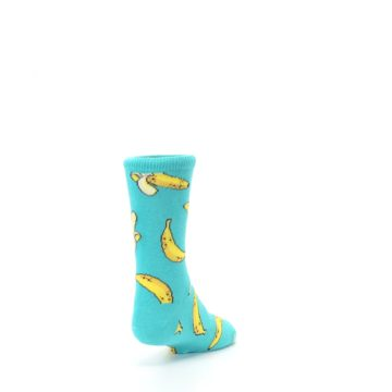 Image of Teal Bananas Kid's Dress Socks (side-1-back-20)