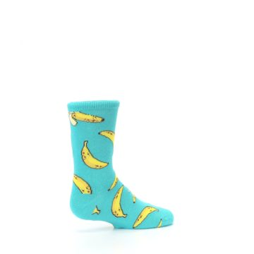 Image of Teal Bananas Kid's Dress Socks (side-1-23)