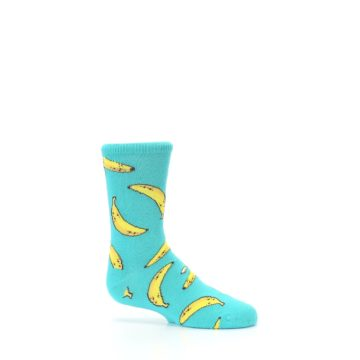 Image of Teal Bananas Kid's Dress Socks (side-1-25)