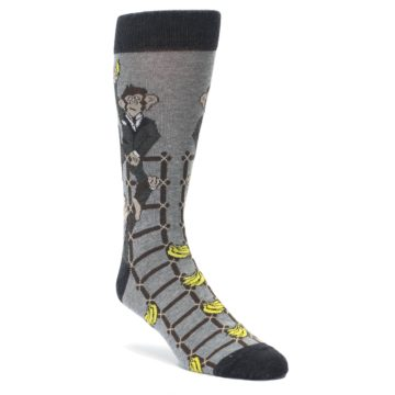 Image of Gray Monkey Business Corporate Ladder Men's Dress Socks (side-1-front-01)