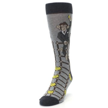 Image of Gray Monkey Business Corporate Ladder Men's Dress Socks (side-2-front-06)