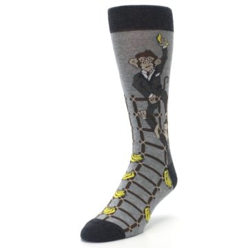 Image of Gray Monkey Business Corporate Ladder Men's Dress Socks (side-2-front-07)