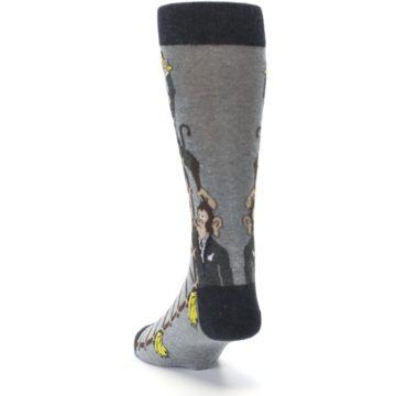 Image of Gray Monkey Business Corporate Ladder Men's Dress Socks (side-2-back-16)