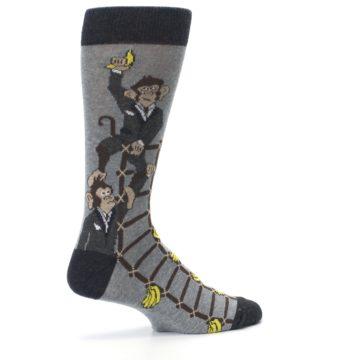 Image of Gray Monkey Business Corporate Ladder Men's Dress Socks (side-1-23)