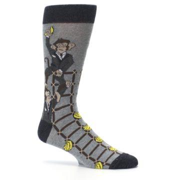 Image of Gray Monkey Business Corporate Ladder Men's Dress Socks (side-1-25)