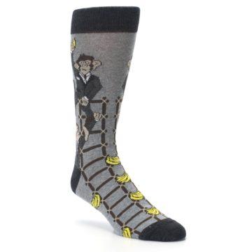 Image of Gray Monkey Business Corporate Ladder Men's Dress Socks (side-1-27)