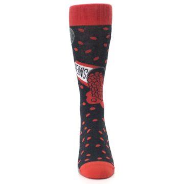 Image of Red Spill the Beans Men's Dress Socks (front-04)