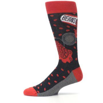 Image of Red Spill the Beans Men's Dress Socks (side-2-11)