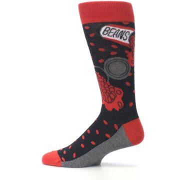 Image of Red Spill the Beans Men's Dress Socks (side-2-12)