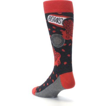 Image of Red Spill the Beans Men's Dress Socks (side-2-back-15)