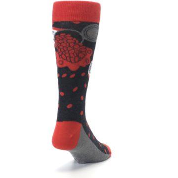 Image of Red Spill the Beans Men's Dress Socks (side-1-back-20)
