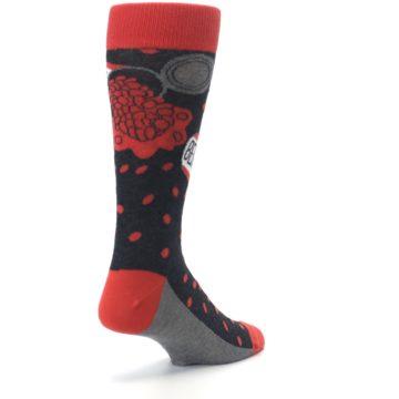 Image of Red Spill the Beans Men's Dress Socks (side-1-back-21)