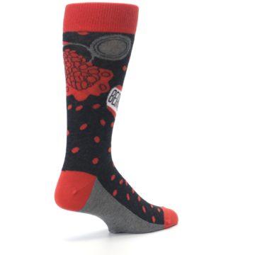 Image of Red Spill the Beans Men's Dress Socks (side-1-back-22)
