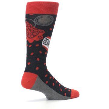 Image of Red Spill the Beans Men's Dress Socks (side-1-23)