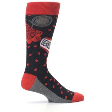 Image of Red Spill the Beans Men's Dress Socks (side-1-24)