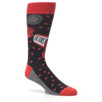 Image of Red Spill the Beans Men's Dress Socks (side-1-26)