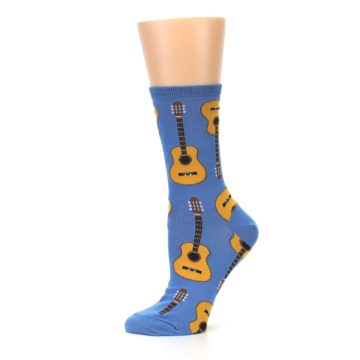 Image of Blue Brown Guitars Women's Dress Socks (side-2-11)