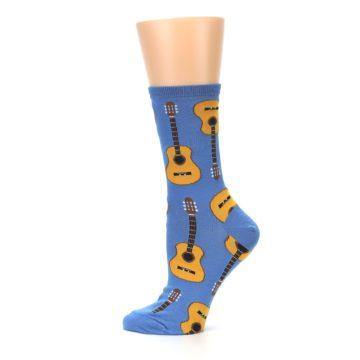 Image of Blue Brown Guitars Women's Dress Socks (side-2-12)