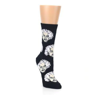 Image of Black White Einstein Women's Dress Socks (side-1-front-02)