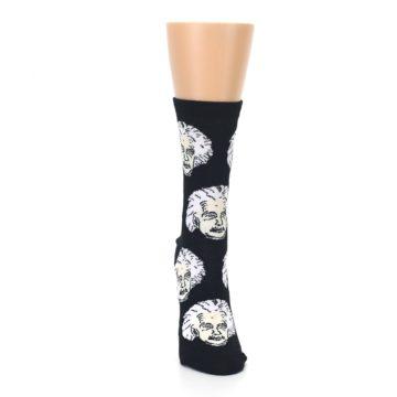Image of Black White Einstein Women's Dress Socks (front-04)