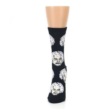 Image of Black White Einstein Women's Dress Socks (side-2-front-06)