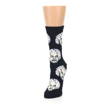 Image of Black White Einstein Women's Dress Socks (side-2-front-07)